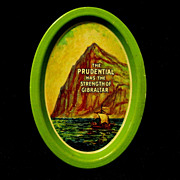 Litho Tin Advertising Tip or Pin Tray for Prudential