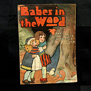 1910-1915 Children's Linen Book,  'Babes in the Wood', M.A. Donohue