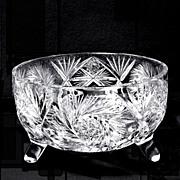 American Brilliant Period Cut Glass Centerpiece