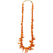 Old Red Branch Coral Necklace