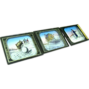 Three 19th Century Colored Magic Lantern slides