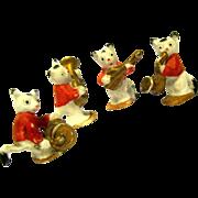"Quartet of Porcelain Bisque Cat Musicians, marked ""Germany"""