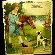 Large Heavily Embossed Die Cut German Calendar, 1926