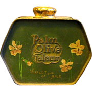 """1919 Talcum Powder Tin, """"Violet of the Nile"""" by Palmolive"""