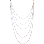 Five Strands of Tiny White Twisted Beads - Holiday Necklace