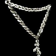 Vintage Sterling silver Graduation Bracelet with Charm