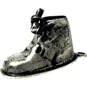1966 Vintage Sterling Silver Baby Shoe Charm