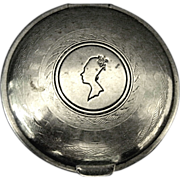 """1924 Silver Toned Mirrored Compact by """"Armand"""""""