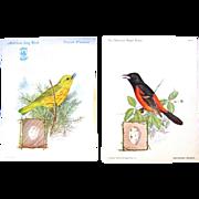 Vintage Singer Bird Trade Cards Drawn by J.L. Ridgway