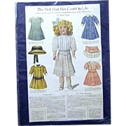 SALE PENDING Original Page of Lettie Lane Doll and Costumes, 1911 Ladies Home Journal