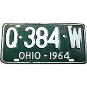 1964 Ohio Single Vintage License Plate