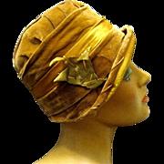 SOLD 1920's Velvet, Silk, Flapper's Cloche, with Original Price