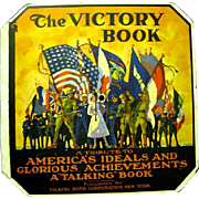 """SOLD Very Rare 1919 Talking Book Corp. """"The Victory Book"""", Two records of WWI"""