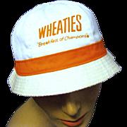 "Vintage ""Wheaties, Breakfast of Champions"" Bucket Hat,"