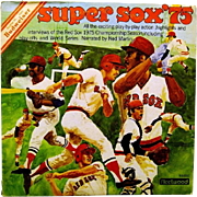 Budweiser Super Sox '75 Album cover With Vinyl Record