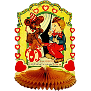 Large Honeycomb Valentine, Trainer with Bear