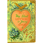 R. Tuck, Publishers to the Queen, Vintage Valentine Greeting Card