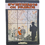 "1928 Art Deco Sheet Music, ""Sweethearts on Parade"""