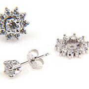 SALE Earring Jackets - Diamond Earrings - Half Carat Diamond Earrings - Earrings - Round Diamond Earrings
