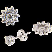 SALE Earring Jackets - Diamond Earrings - Half Carat Diamond Earrings - Earrings - Round ...