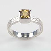 SALE Citrine Ring in Sterling Silver - Silver Citrine Ring - November Birthstone Ring