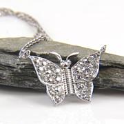SALE Diamond Butterfly Necklace - Butterfly Necklace - Diamond Bug - Diamond Butterfly - Insect Jewelry