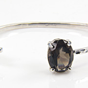 SALE Sterling Silver Smoky Quartz Bracelet