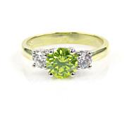 Diamond Ring - Three Stone Diamond Ring- Engagement Ring - Wedding Ring