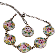 Sweet Limoges Demi, Necklace and Bracelet, Unique Clasps