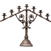 Candelabra with 7 Candle Holders, Rich Detailing, Exquisite Altar-Style