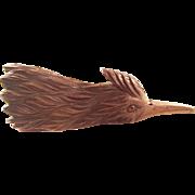Rare Carved Treen Victorian Desk Clip - Woodpecker, ca. 1880   Fabulous!