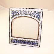 Fabulous Antique Micro Mosaic Photo Frame – Pansies!