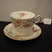 Tea Cup and Saucer - Made in England For Avon - Pink Roses
