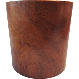An antique Chinese Huanghuali brushpot