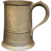 ENGLISH PEWTER QUART MUG