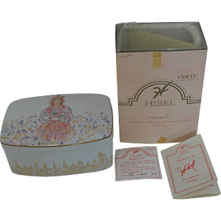 "Edna Hibel ""PRINCESSA"" Porcelain Box by Rosenthal"