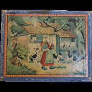 1930's Fairy Tale Wood Puzzle Blocks - Doll Sized