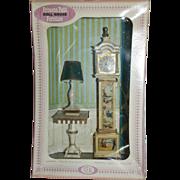 1965 Ideal Pedestal Table With Lamp & Clock - Princess Patti Dollhouse Furniture
