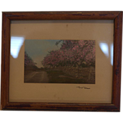 Wallace Nutting framed Miniature Print