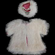 1950's Tagged Schiaparelli Rabbit Fur Coat & Hat