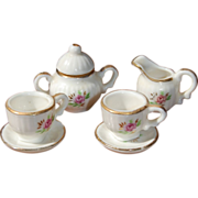 SALE PENDING Miniature Tea For Two Porcelain Tea Set