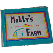 SALE Mexican Cloth Child's Book 'Molly's Farm'