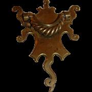 Large Antique Brass Door Knocker