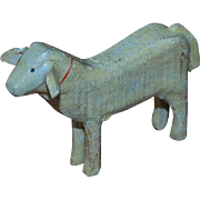 Carved Wood Putz Toy Sheep