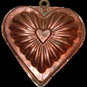Vintage Copper Heart Kitchen Mold