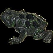 Painted Toad Metal Flower Frog