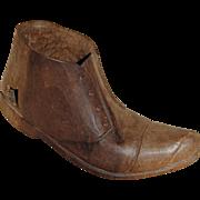 Black Forest Carved Wooden Shoe