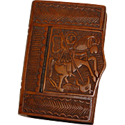 European St George and the Dragon Carved Snuff Box
