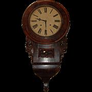 SALE Antique Walnut Burl Case Clock EN Welch works
