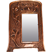 Early 1900's Copper Tabletop Photo Frame